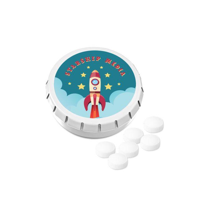 Kalfany – Super Mini Click Clack Tin – Sugar Free Peppermint