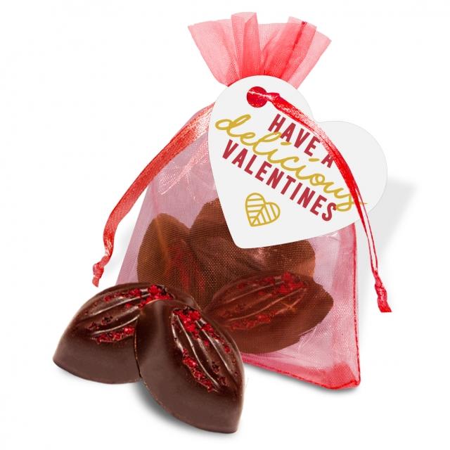 Valentines – Organza Bag – Cocoa Bean Truffles